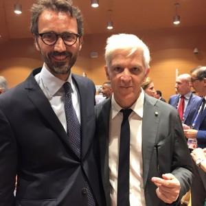 Stefano Colombo con Massimo Bray, direttore generale dell'Istituto Treccani